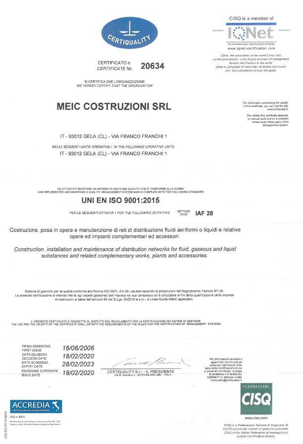 9001 Certificazioni