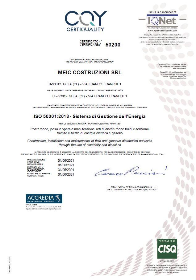 50001 Certificazioni